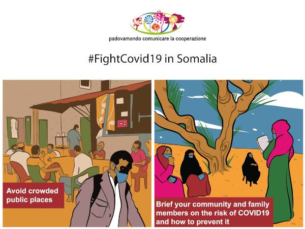 Da Padova in Tunisia e Somalia i fumetti di Claudio Calia contro il Covid-19 1