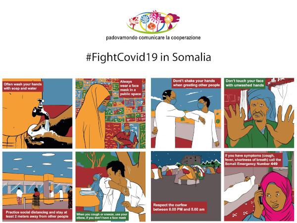 Da Padova in Tunisia e Somalia i fumetti di Claudio Calia contro il Covid-19 4