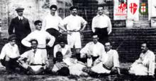 Apposizione di una targa per ricordare il luogo in cui è nato il Calcio Padova