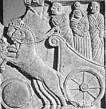 Stele funeraria di epoca romana conservata al Museo Archeologico