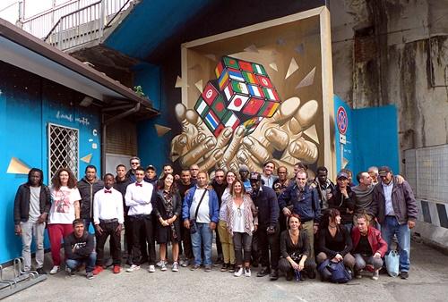 Murales casetta Borgomagno