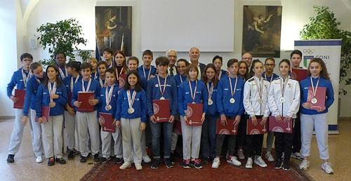 Premiazione in Comune per gli atleti del Trofeo Coni