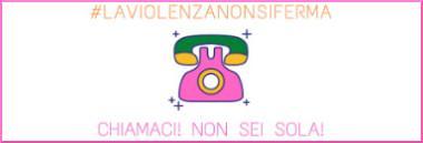 """Campagna """"#iorestoacasa ma #laviolenzanonsiferma e #noisiamoconte"""" 380 ant"""
