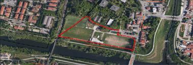 Campo sintetico calcio città mappa urbanistica 380 ant