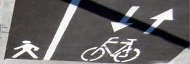 Variante ciclabile bici marciapiede viabilità strada segnaletica 380 ant