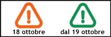 Segnale passaggio ARANCIO VERDE inquinamento anteprima 380