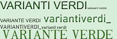Varianti verdi