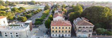 Pi - Palazzo Bolasco città verde alberi urbano strada palazzi veduta 380 ant