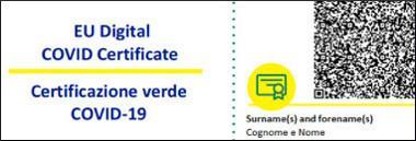 certificazione verde green pass covid 380 ant
